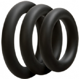 ANELLI FALLICI OPTIMALE 3 C-RING SET THICK BLACK
